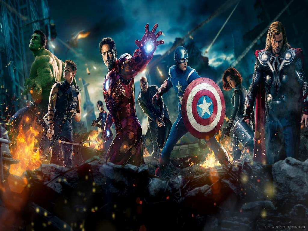 Superheroes wallpaper 1